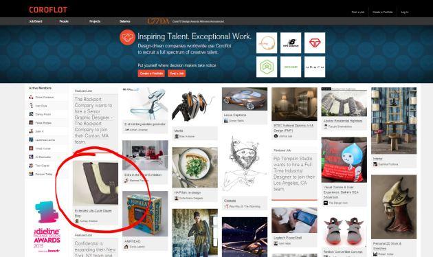 Coroflot 'homepage'