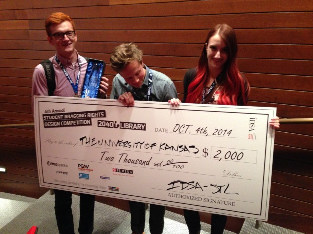 $2000 check for our IDSA win in St Louis!