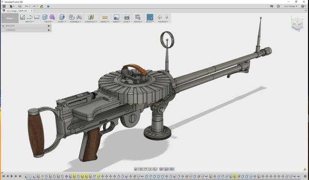 Lewis Gun - Fusion 360 model